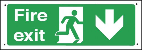 Running Man/Arrow Right/Down Vandal-Resistant Sign