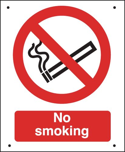 No Smoking - Vandal-Resistant Sign