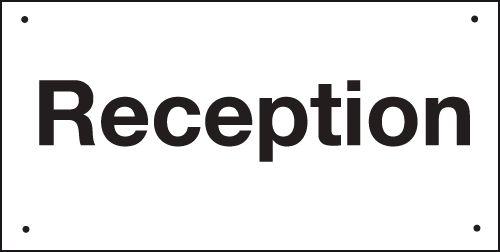 Reception Vandal-Resistant Sign