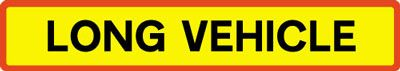 Vehicle Rear Marking Plate - Long Vehicle