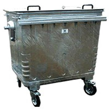 4 Wheeled Galvanised Waste Containers
