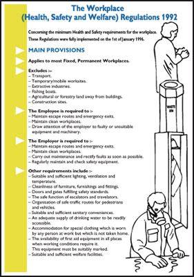 Wallchart/Pocket Guide Workplace Health, Safety, Welfare