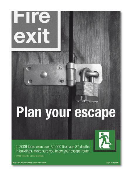Plan Your Escape Safety Poster
