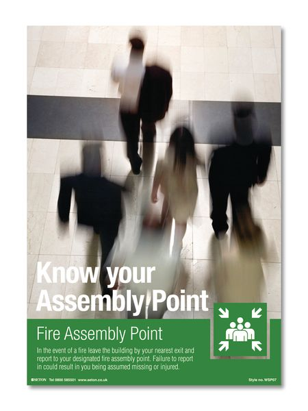 Know Your Assembly Point Safety Poster