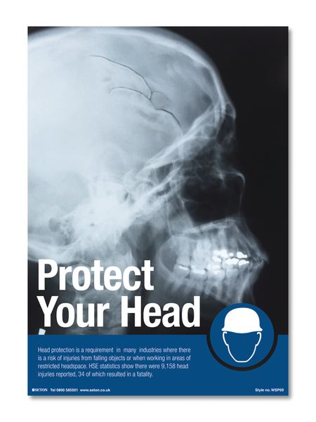 Protect Your Head Safety Posters