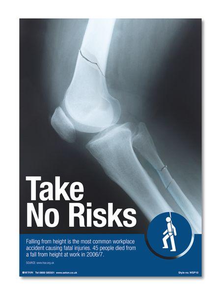 Take No Risks Safety Poster