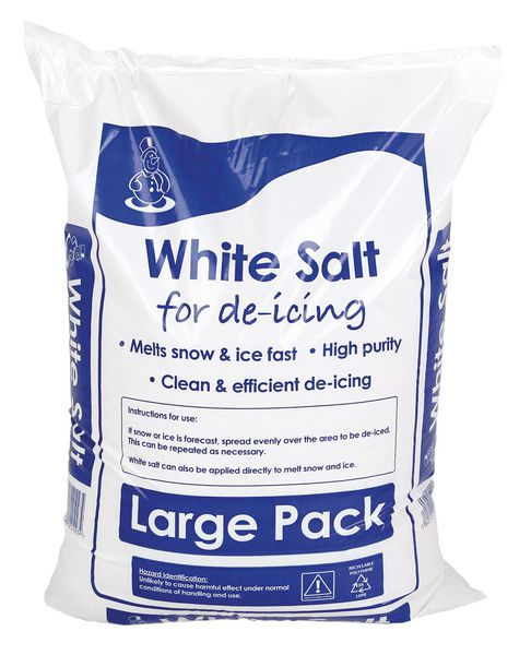 White De-icing Rock Salt 25KG