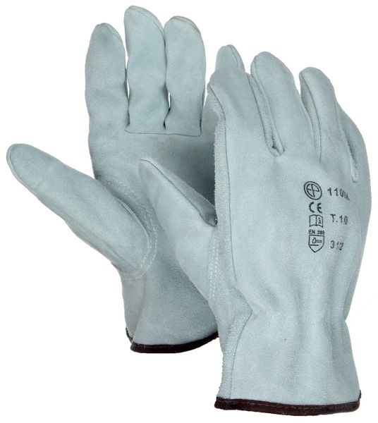 Eurotechnique® Split or Grain Leather Gloves