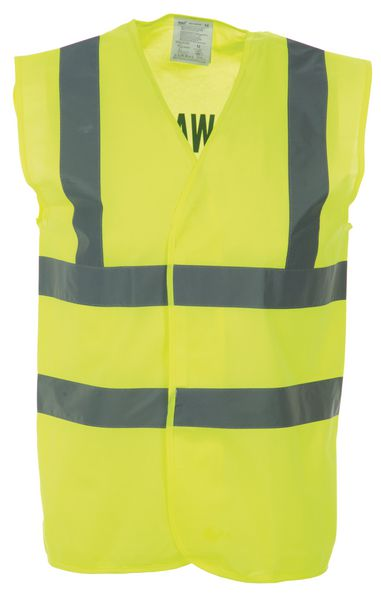 Printed Hi-Vis Security & Fire Warden Waistcoats
