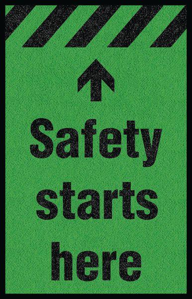 Safety Slogan Carpet Mats Seton Uk