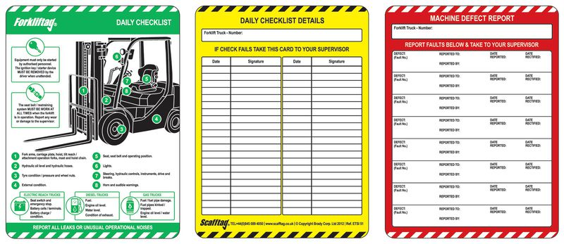 Forkliftag® Inspection Booklet