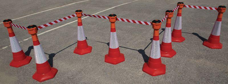 Retractable Cone Topper: Skipper™ Retractable Barrier & Cone Kits