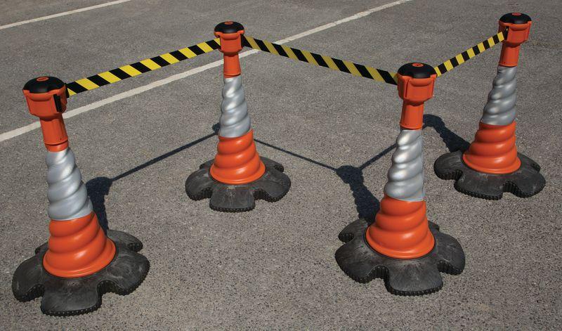 Skipper™ Retractable Barrier and Cone Kits - Skipper™ Cones