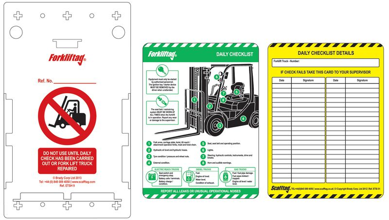 Scafftag® Forkliftag Kits