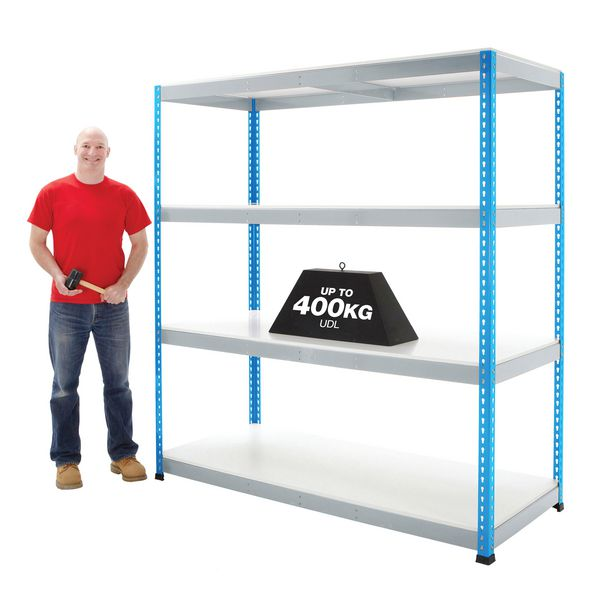Wide Access Melamine Shelving