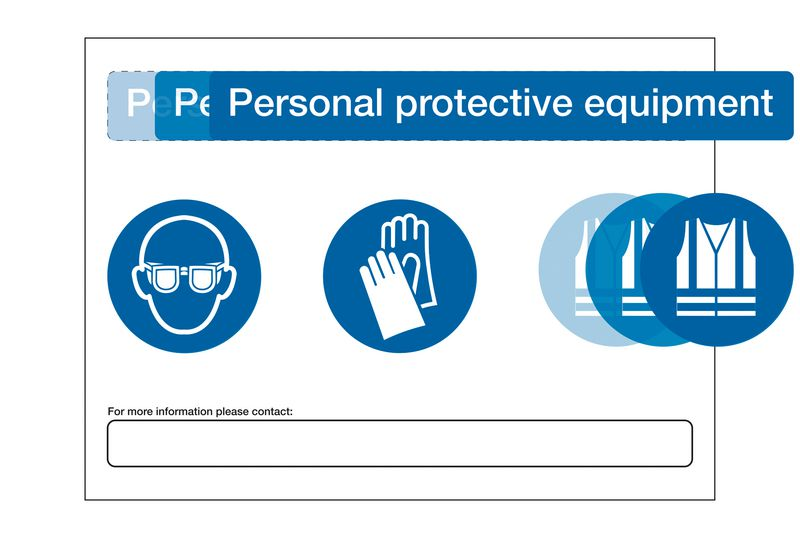 PPE At Point of Need Signs - Blank Kit