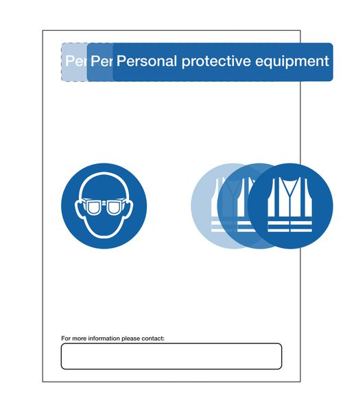 PPE At Point of Need Signs - More Info Please Contact
