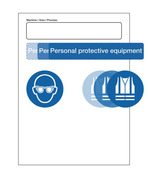 PPE At Point of Need Signs - Machine/Area/Process Kit