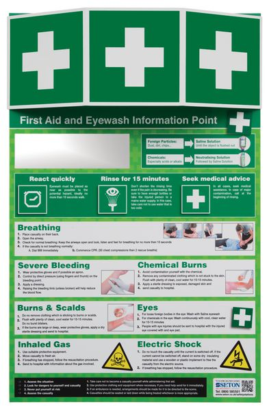 First Aid & Eye Wash Information Point
