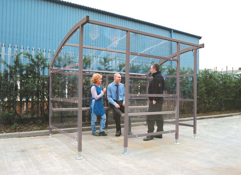 Arched Roof Smoking Shelters