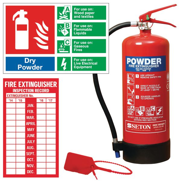 ABC Powder Fire Extinguisher, Sign & Seal Kits