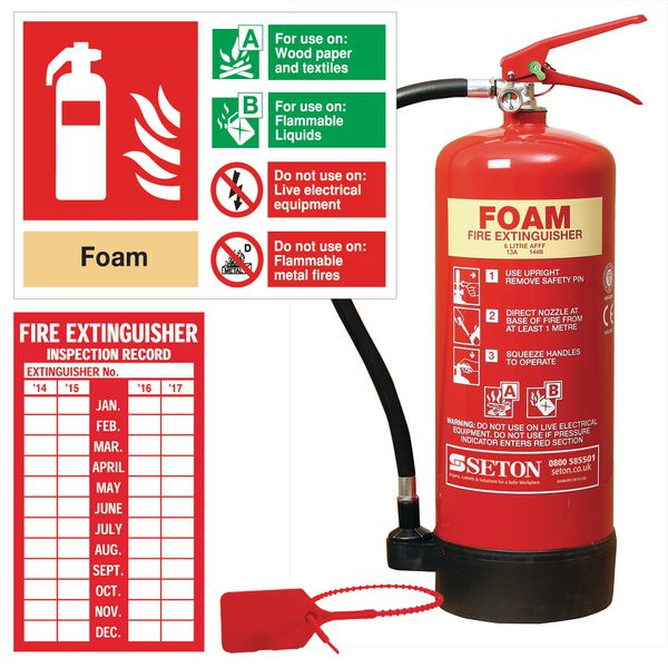 AFFF Foam Fire Extinguisher, Sign & Seal Kits