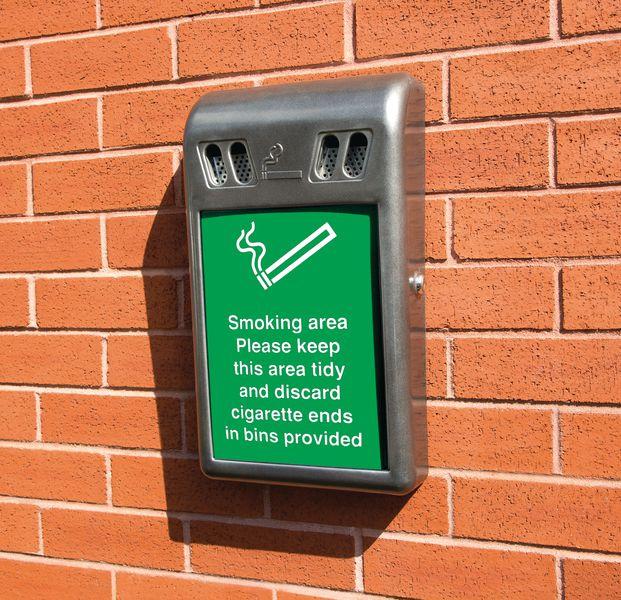 Advertising Cigarette Bin Seton Uk