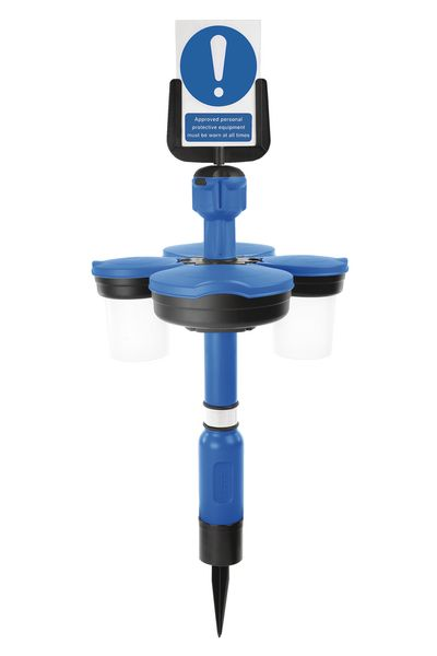 Skipper™ Safety Station with Sign Holder Post and Spike