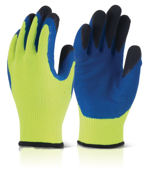 Cold Star Hi-Visibility Latex Gloves