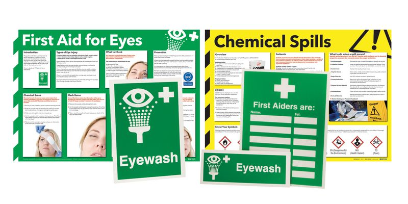 Eye Wash Awareness Sign and Poster Kits