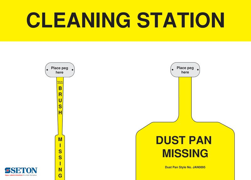 Non-Stocked Cleaning Station Shadow Boards