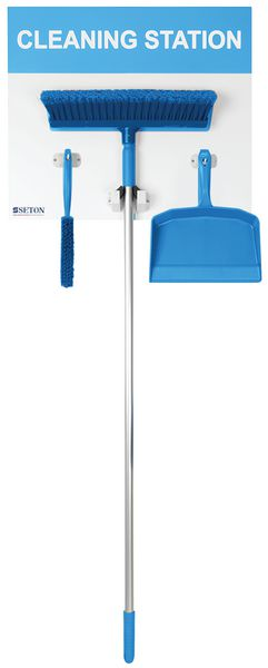 Dustpan, Brush & Broom Cleaning Station Shadow Boards