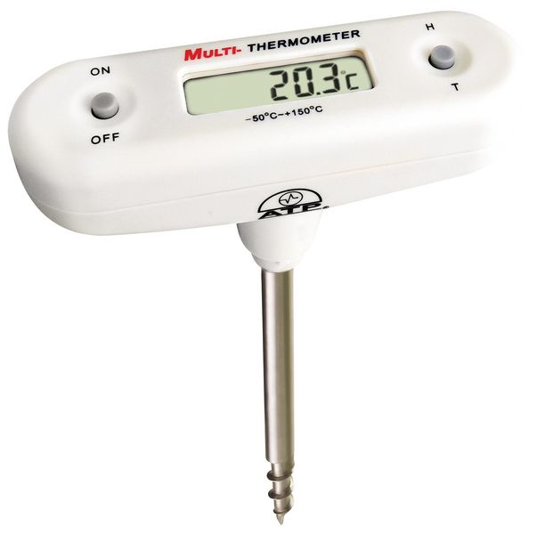 Probe T-Bar Thermometer with Corkscrew Tip