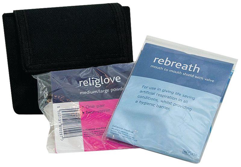 Rebreath & Gloves in Belt Pouch