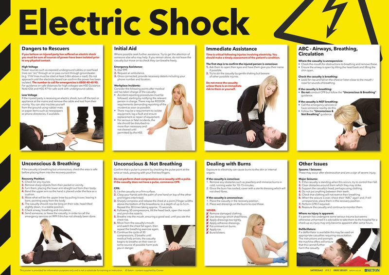 Electric Shock Photographic Poster