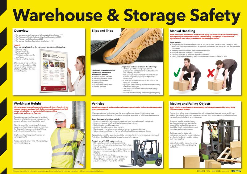 Warehouse Amp Storage Safety Poster Seton Uk