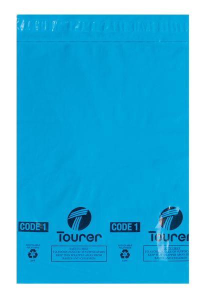Blue Plastic Mailing Sacks