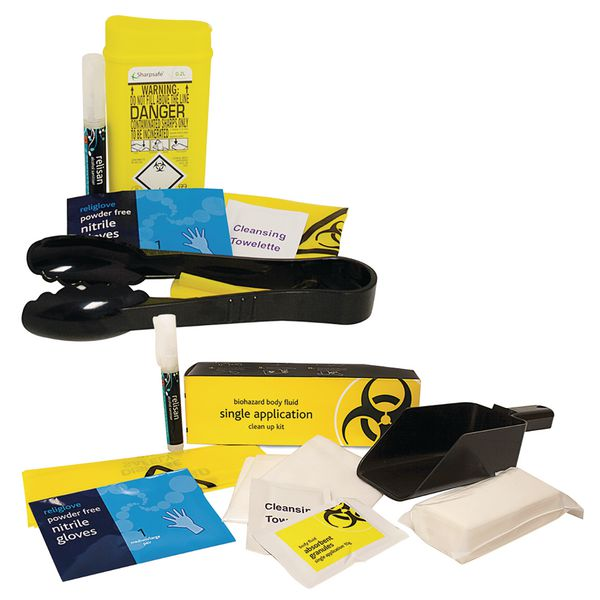 Sharps & Biohazard Single Application Combination Kit