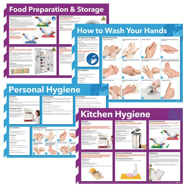 Assorted Hygiene Poster Multipacks