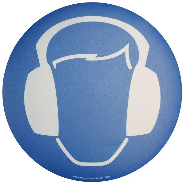 Floor Graphic Markers - Ear Protection Symbol