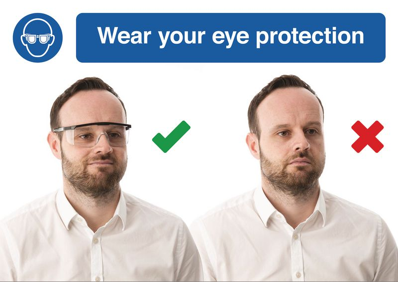 Wear Eye Protection Do & Don't Visual Signs