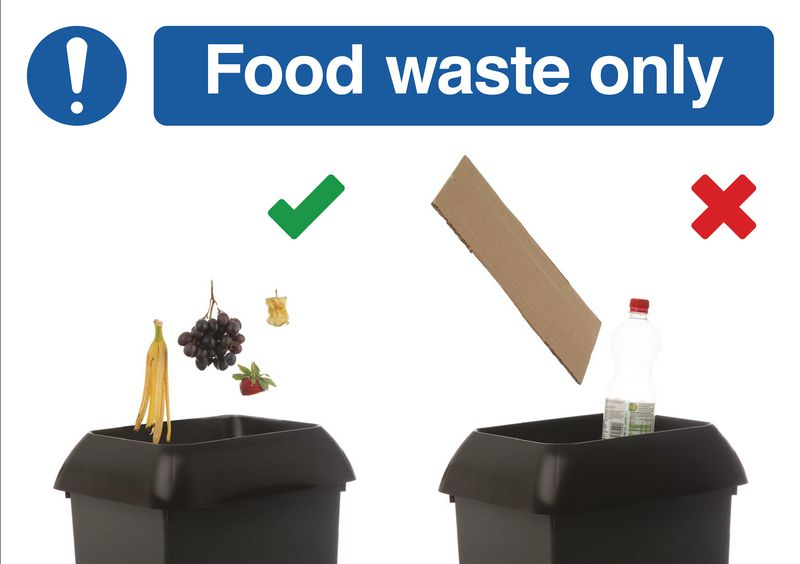 Food Waste Recycling Do & Don't Visual Signs