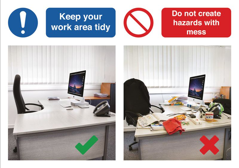 Keep Your Work Area Tidy Do & Don't Visual Signs