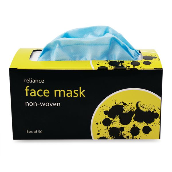 Non Woven Face Mask Looped Box of 50