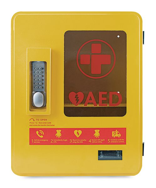 Heated Outdoor AED Storage Cabinet | Seton UK