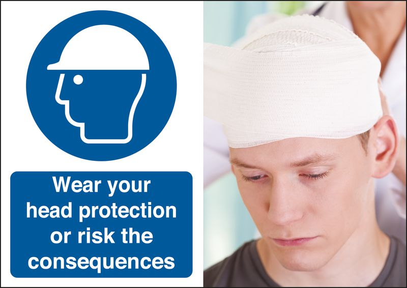 Wear Your Safety Helmet Consequences Safety Sign