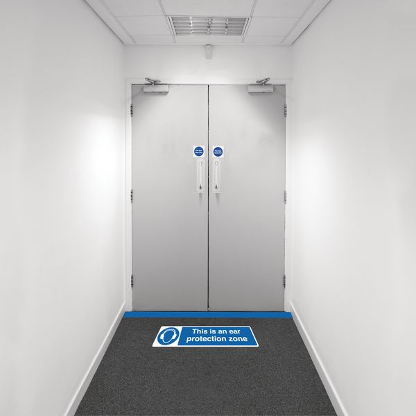 Safety Zone Floor Marking Kits - Ear Protection Zone