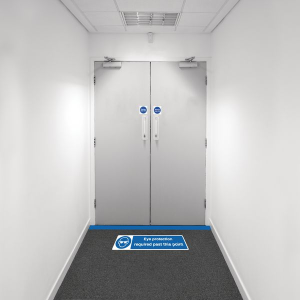 Safety Zone Floor Marking Kits - Eye Protection