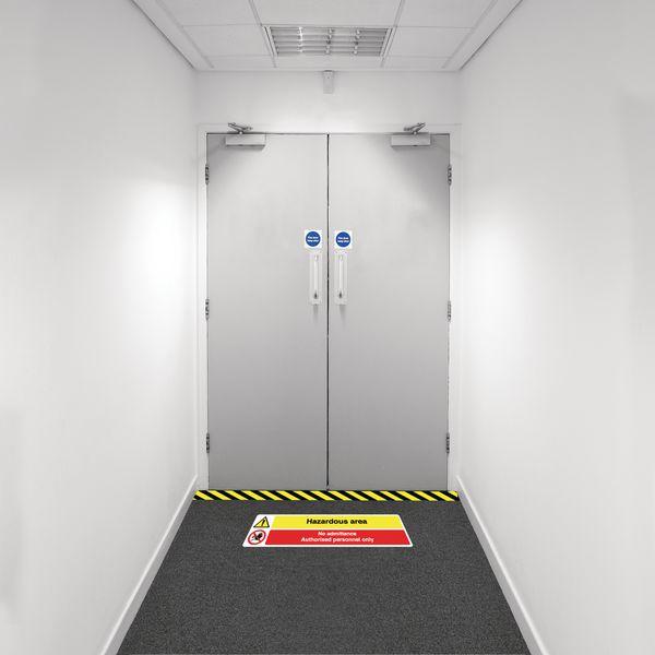 Safety Zoning Floor Marking Kits - Hazardous No Admit.