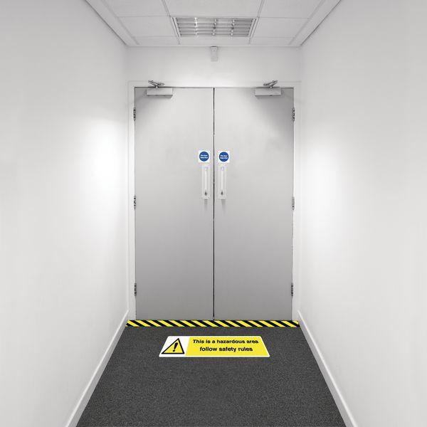 Safety Zoning Floor Marking Kits - Hazardous Area